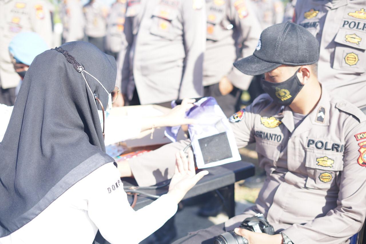337 Personil Polda Sulbar Back Up Pengamanan Pilkada Empat Kabupaten