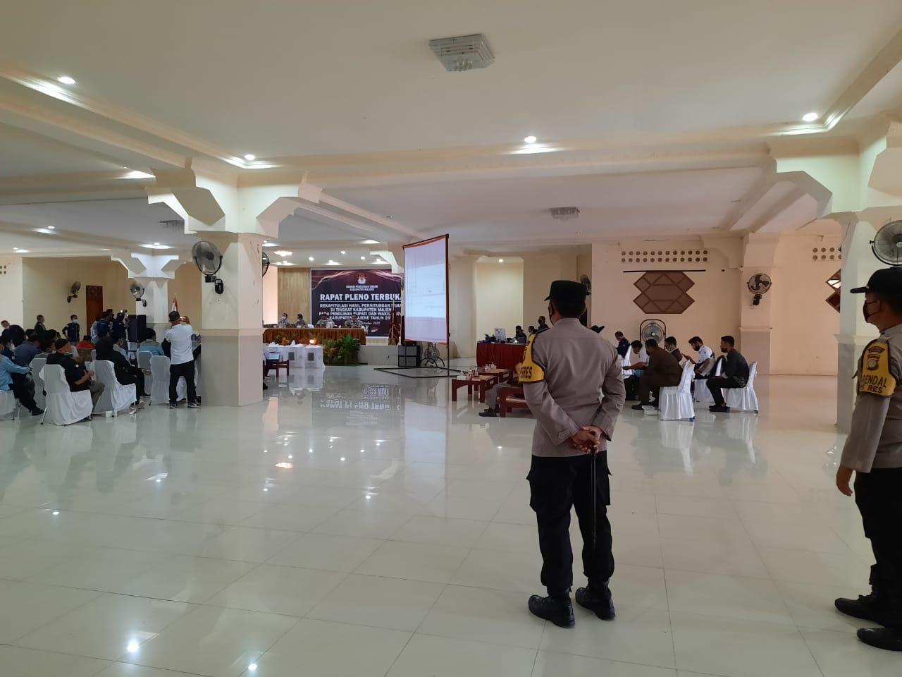 Rekap Final Pilkada di Tingkat KPUD, Polres Majene Pertebal Pengamanan