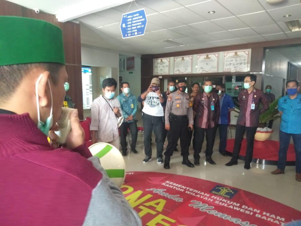 HMI Kembali Demo KemenkumHAM Sulbar