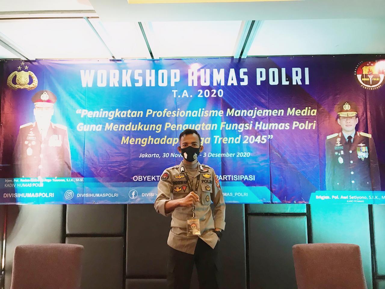Tiga Personil Humas Polda Sulbar Ikuti Workshop Megatrend 2045