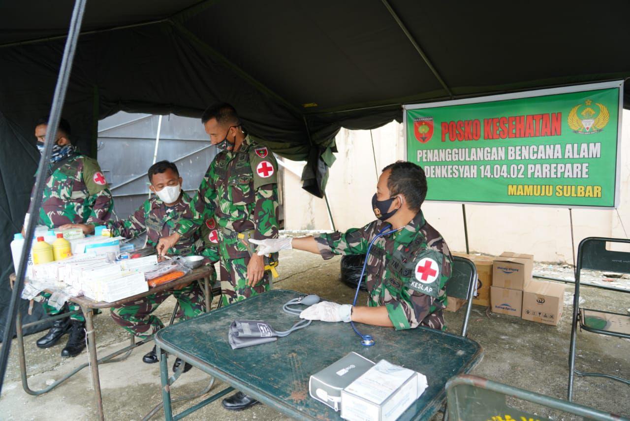 Kasi Ops Rem 142/Tatag : Tenda Pengungsi telah didirikan pada 5 lokasi