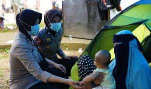 Pasca Gempa, Polda Sulbar turunkan tim Trauma healing