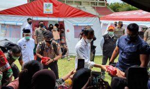Presiden RI Jokowi Kunjungi Pengungsian