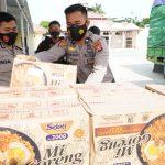 Tiga Truk Bantuan  Dari Polda Papua Barat