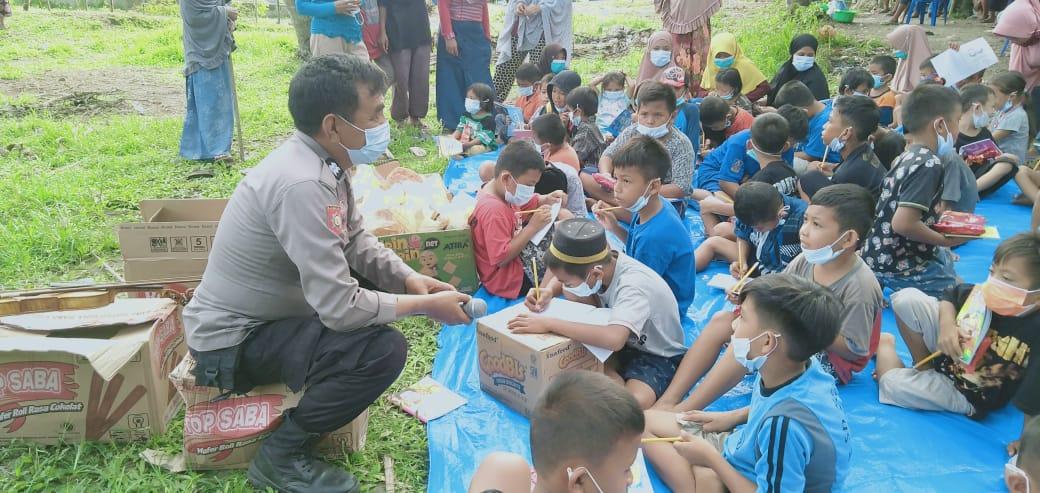 Sat Binmas Polres Majene Gandeng Penggiat Literasi Pulihkan Trauma Anak Usia Dini