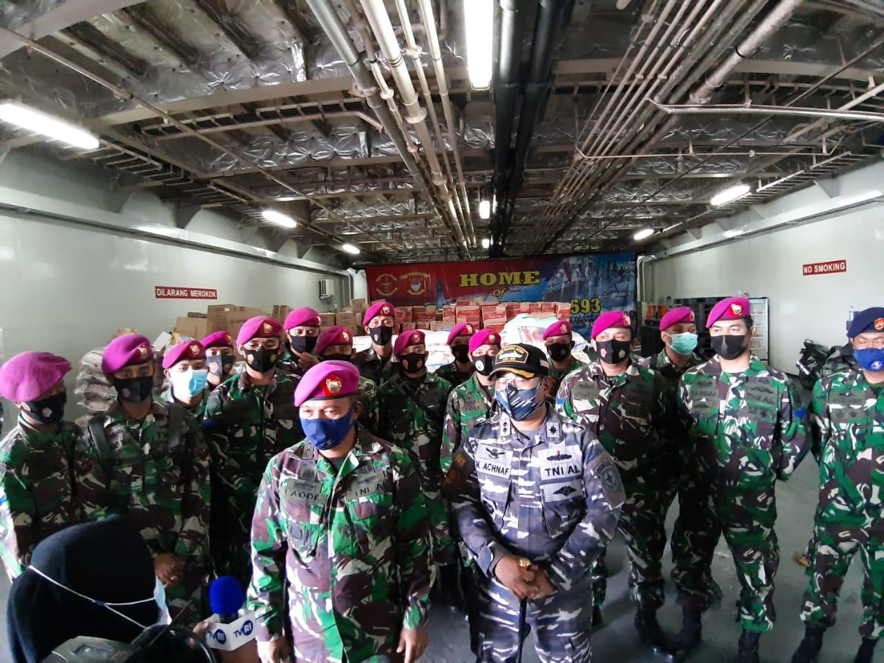 KRI Banda Aceh 593 Bawa 150 Ton Bantuan
