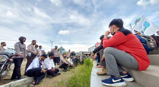 Polres Mateng Terjunkan 57 Personil Dalam PAM Unjuk Rasa