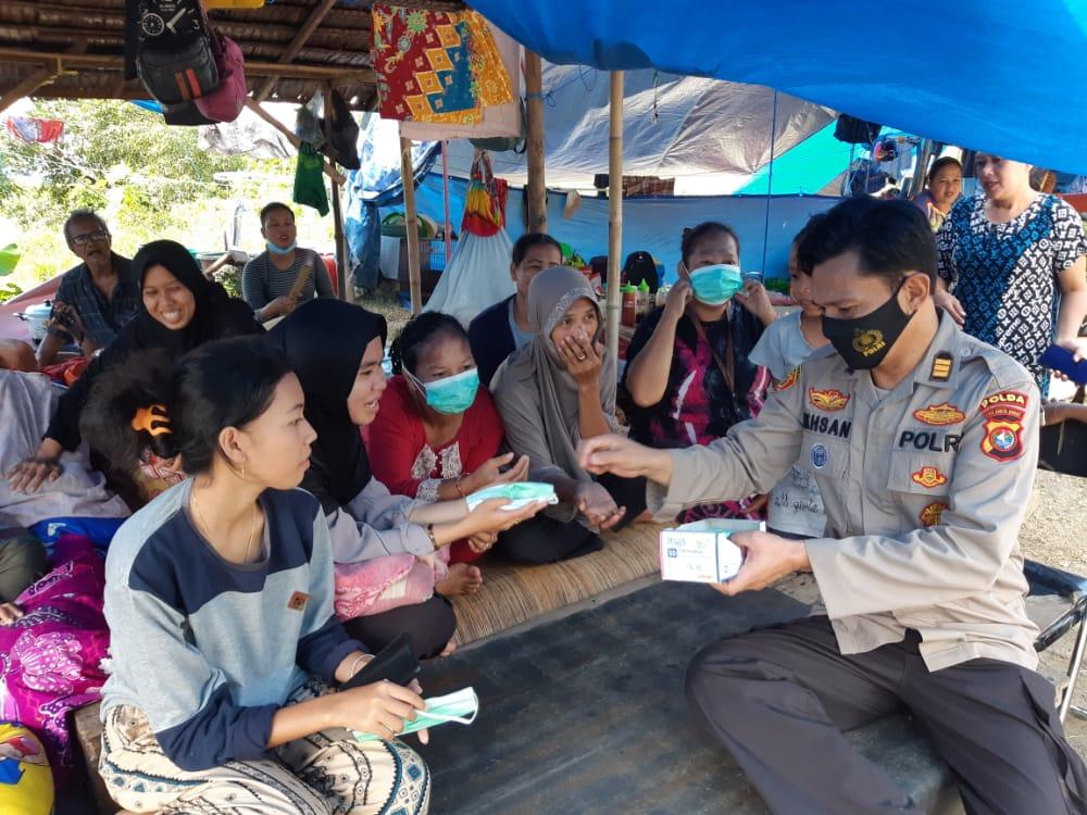 Peran Aktif Dit Binmas Polda Sulbar Pasca Gempa