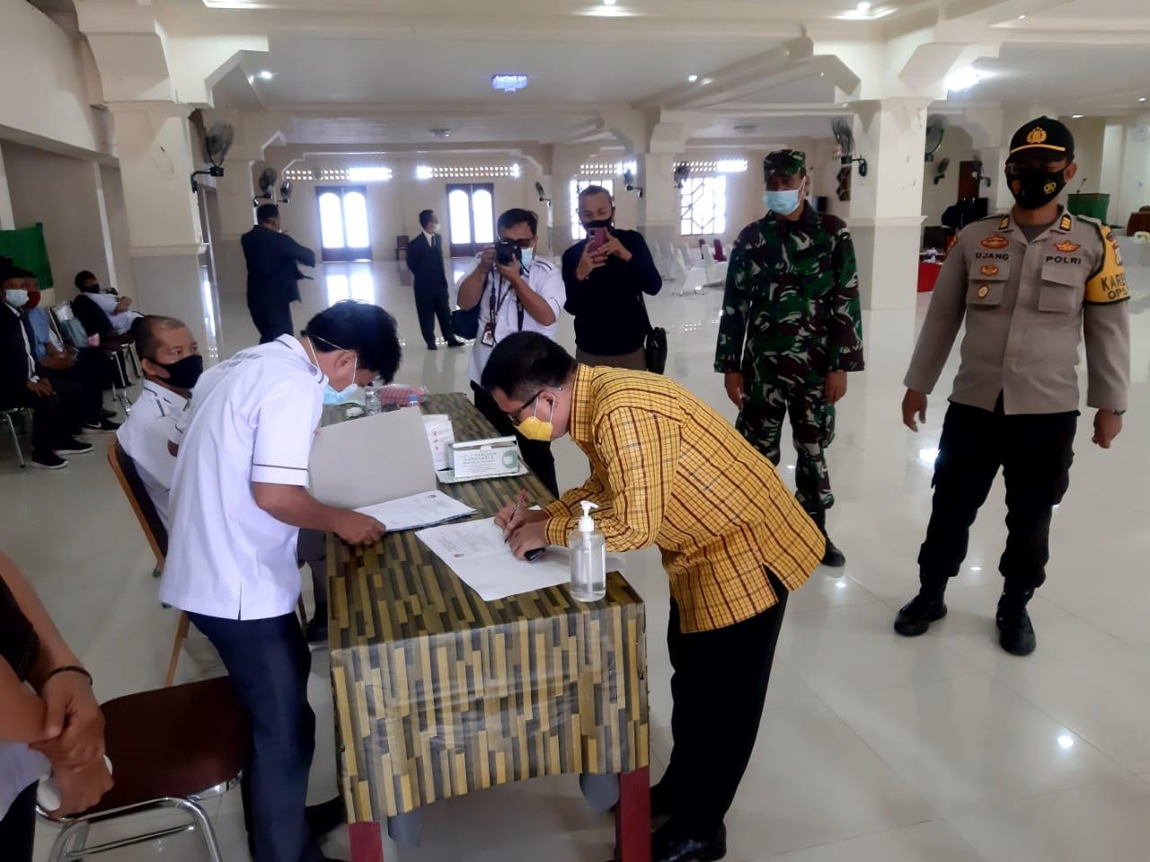 Rapat Pleno Penetapan Pasangan Calon, Polres Majene Berikan Jaminan Keamanan