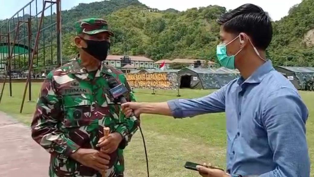 Rumah Sakit Lapangan milik TNI - AD digelar di Korem 142/Tatag