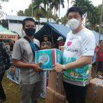 Tiens Salurkan 800 Paket Bantuan Bagi Korban Gempa di Mamuju