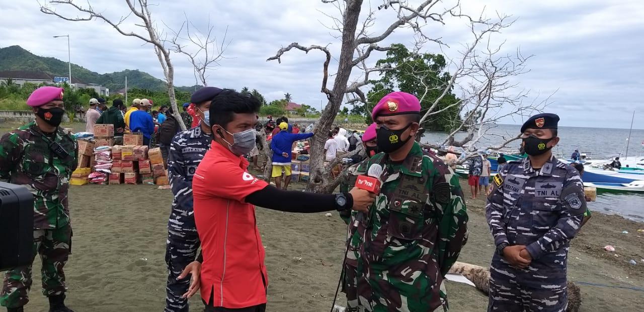 TNI AL Salurkan Bantuan Bagi Warga Pesisir