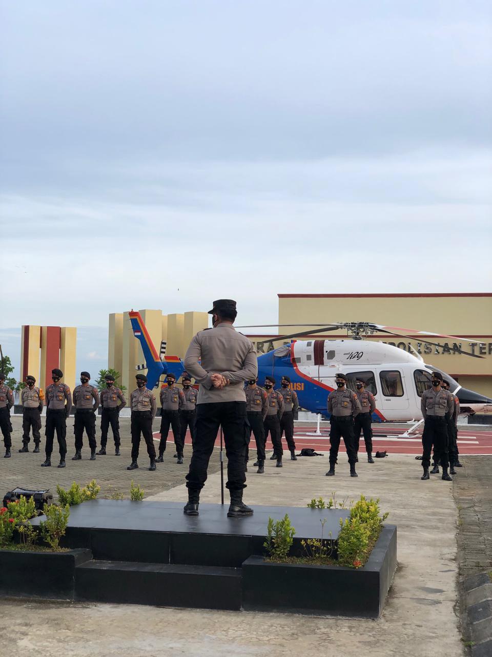 BKO Misi Kemanusiaan Polda Sulteng dan K9 Mabes Polri dilepas Karo Ops Polda Sulbar