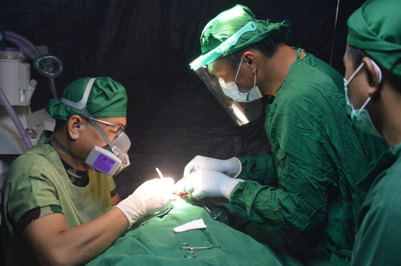 Waka Kesdam XIV/Hasanuddin kembali melakukan operasi bedah.