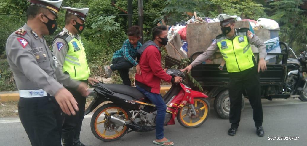 Polantas Polres Majene Lakukan Operasi Disiplin Berlalu Lintas