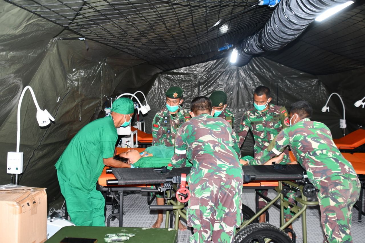 Aktivitas Rumah Sakit Lapangan TNI AD Berjalan Seperti Biasa