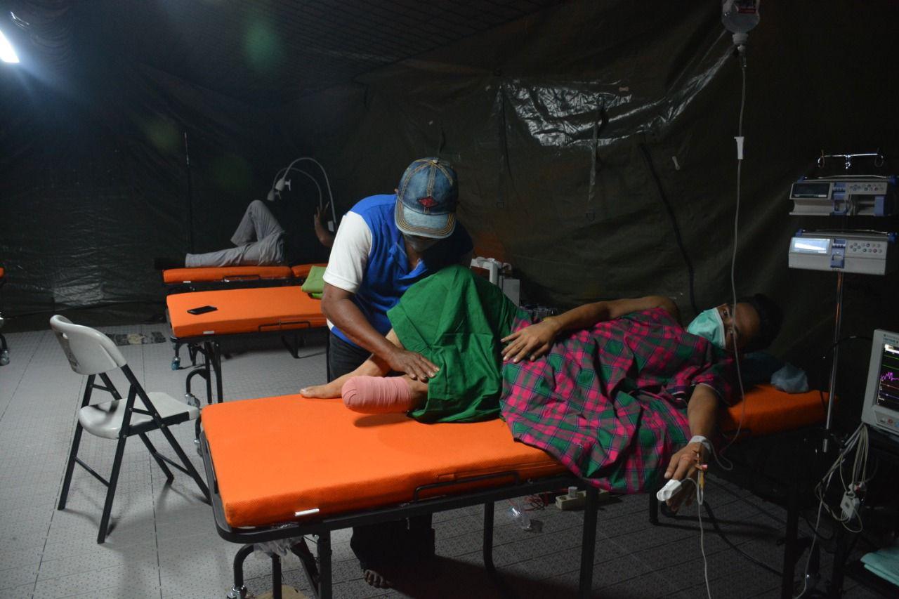 9 tahun kakinya sakit, akhirnya diamputasi di Rs Lapangan TNI AD