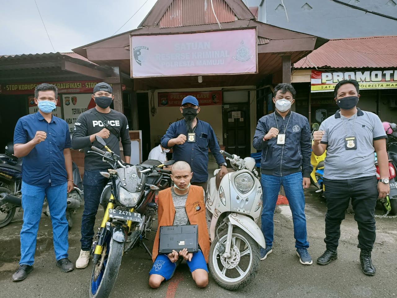Gasak Motor Pemuda Ini Diringkus Team Resmob Polresta Mamuju
