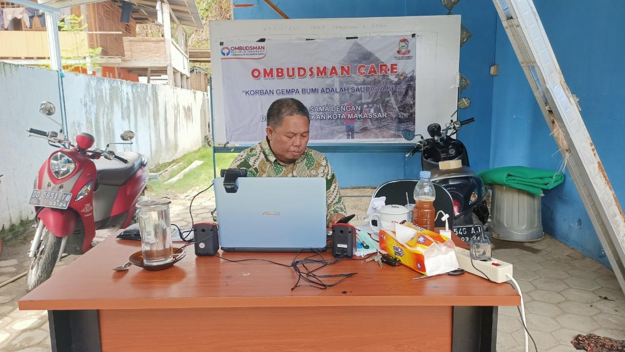 Dibawah Tenda Darurat, Ombudsman Tetap Membuka Layanan Pengaduan
