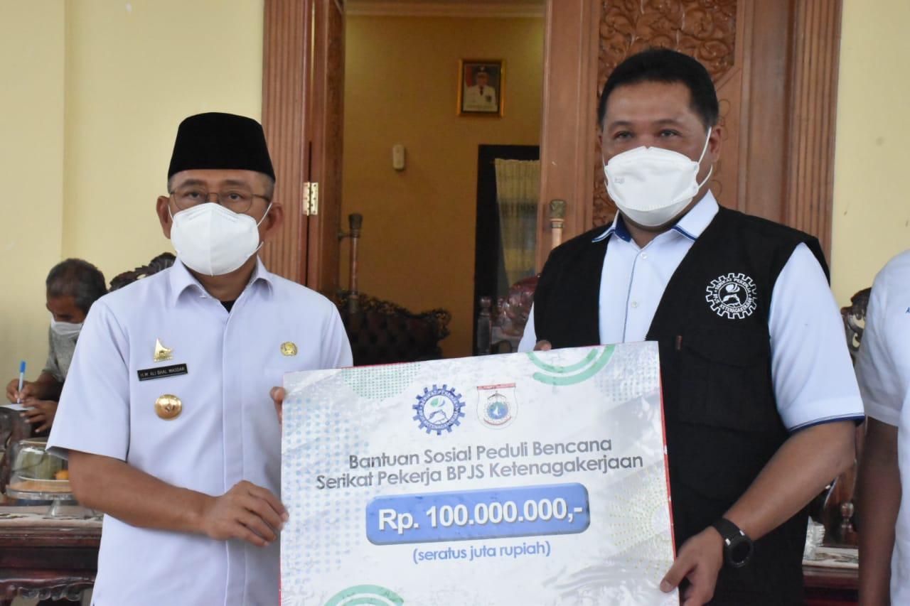BPJS Ketenagakerjaan Santuni Keluarga Korban Gempa Bumi