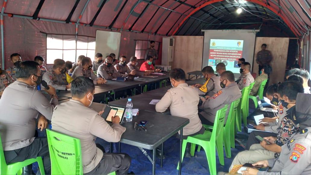 Polresta Mamuju Laksanakan Rapat Pembentukan Tim Pokja Zona Integritas
