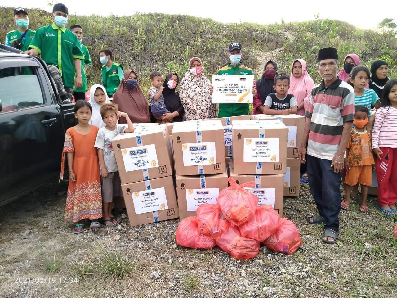 WIZ Bantu Meringankan Beban Korban Gempa di Mamuju