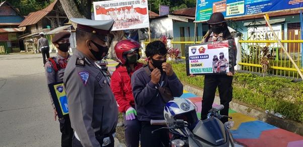 Operasi Yustisi, Polres Mamasa Sanksi Masyarakat Yang Tidak Taat Prokes