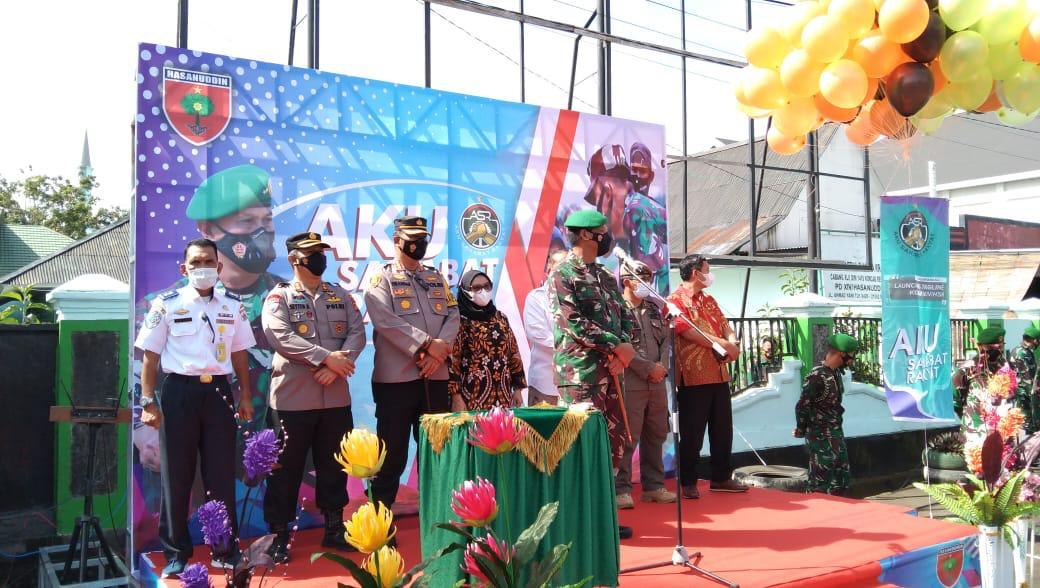 "Kapolresta Mamuju Hadiri Launching Tagline ""Aku Sahabat Rakyat"""