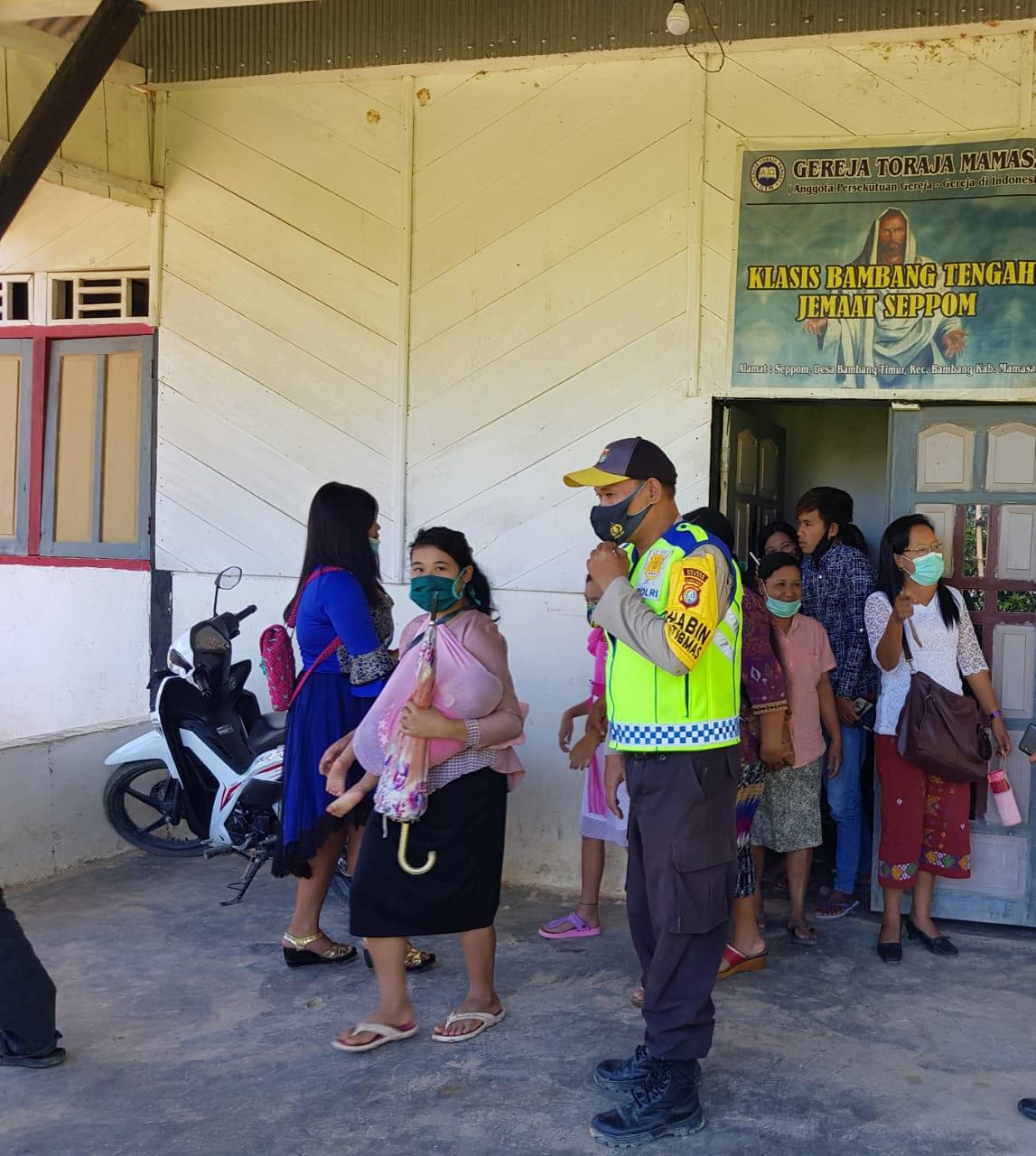 Polres Mamasa Amankan Puluhan Gereja Pasca Bom Bunuh Diri di Gereja Makassar