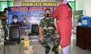 Personel Kodim 1428 Mamasa Laksanakan Vaksinasi Tahap Dua