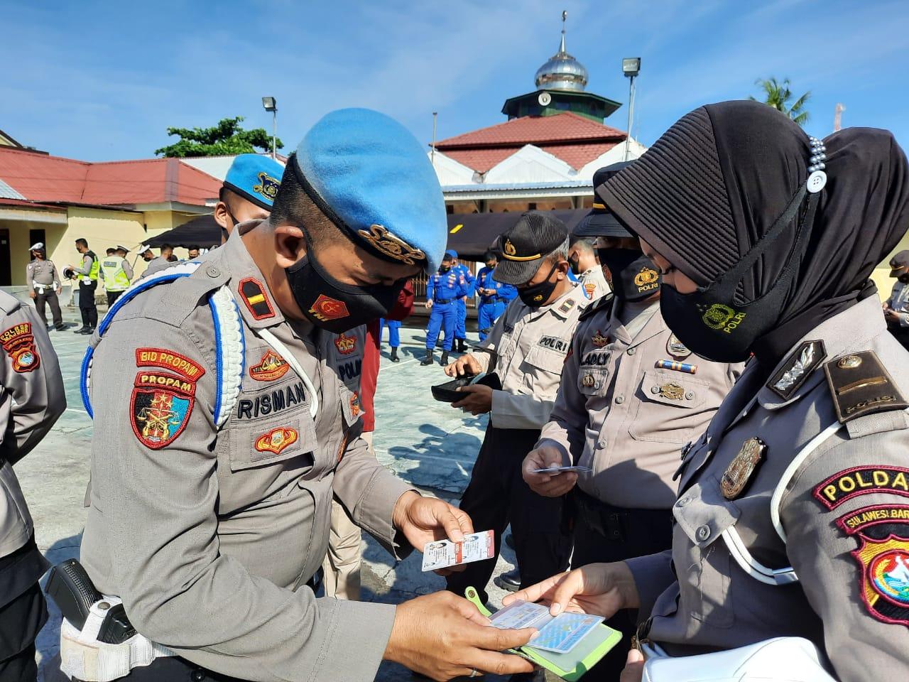 Propam Polda Sulbar Operasi Gaktibplin di Polres Majene