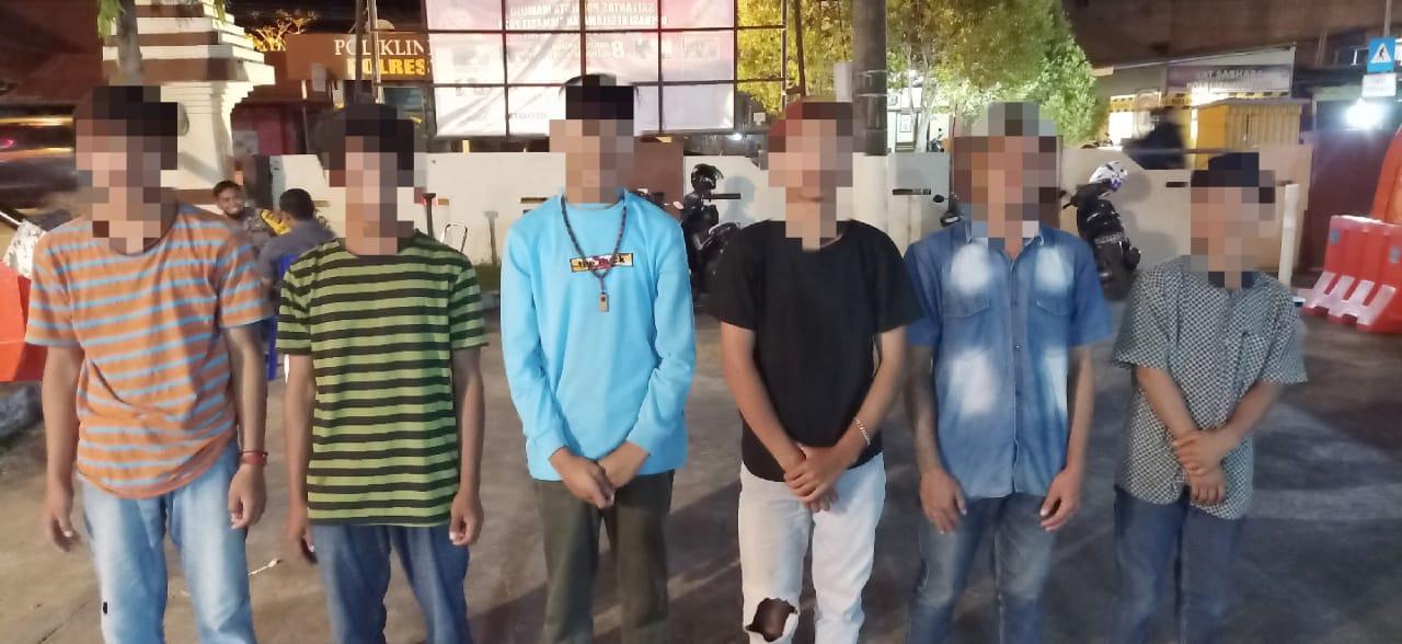 Polresta Mamuju Amankan Pemuda Yang Terlibat Tawuran
