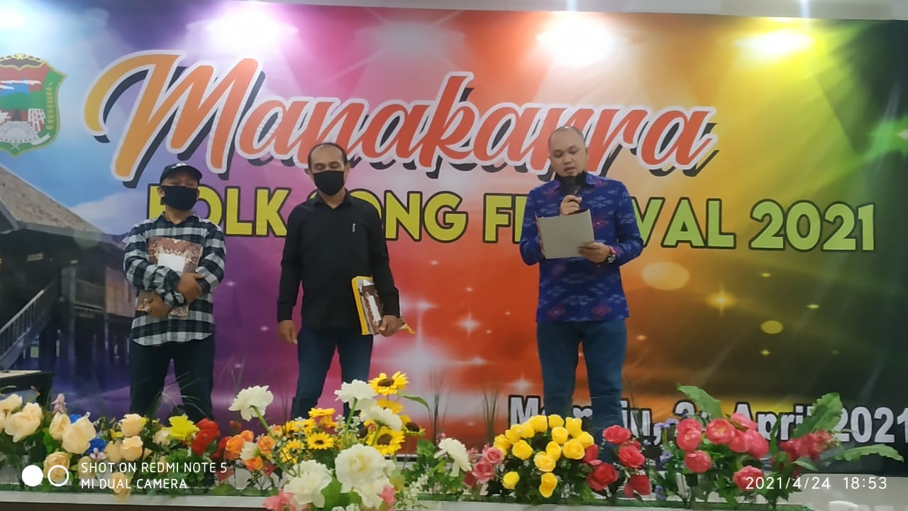 Disparbud Mamuju Sukses Gelar Manakarra Folk Song Festival