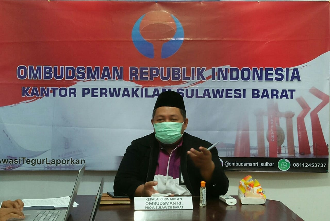 Menjelang Uji Kepatuhan 2021, Ombudsman Sulbar Adakan Rapat Koordinasi Secara Virtual