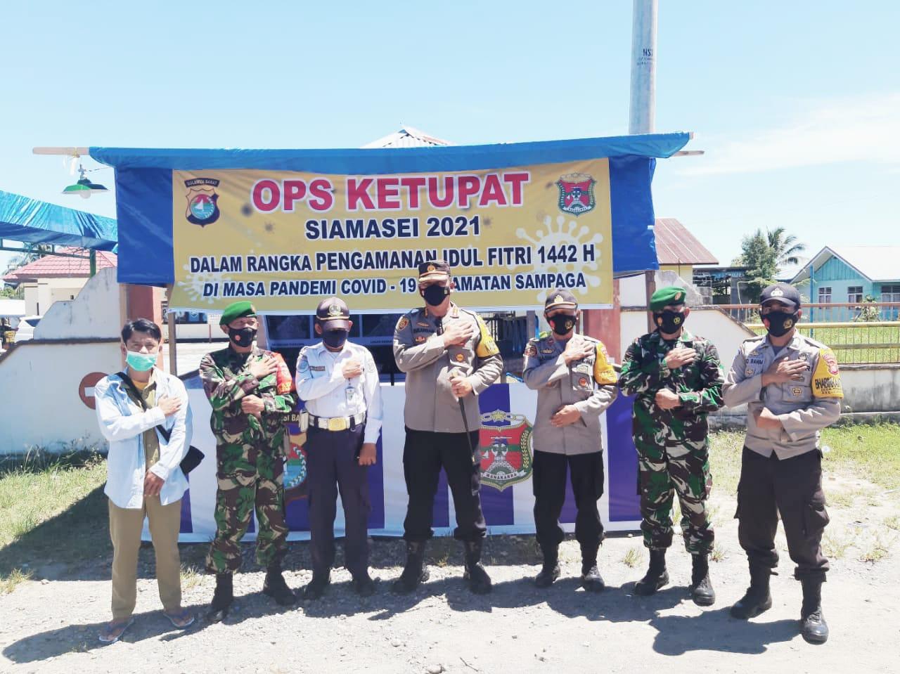 Kapolresta Tinjau Pos Pam Oprasi Ketupat Kecamatan Sampaga