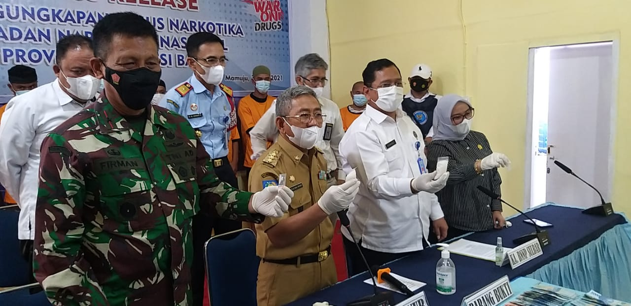 BNNP Sulbar Ungkap Dua Kasus