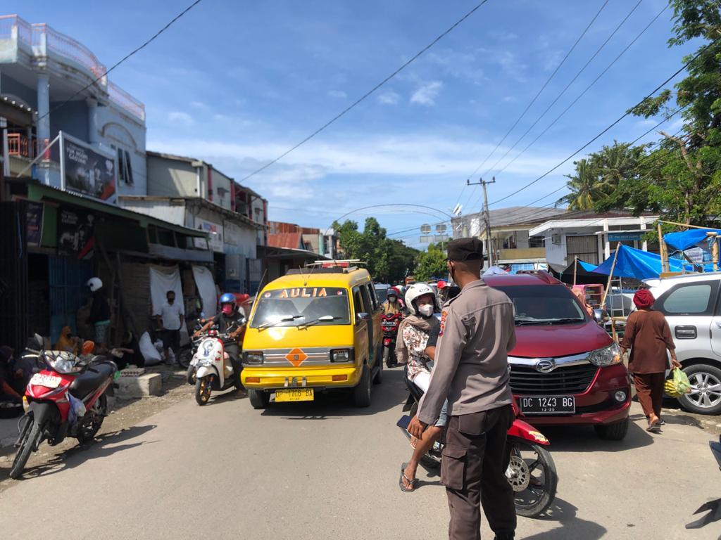 Satuan Binmas Polres Majene Terus Galakkan Protokol Kesehatan