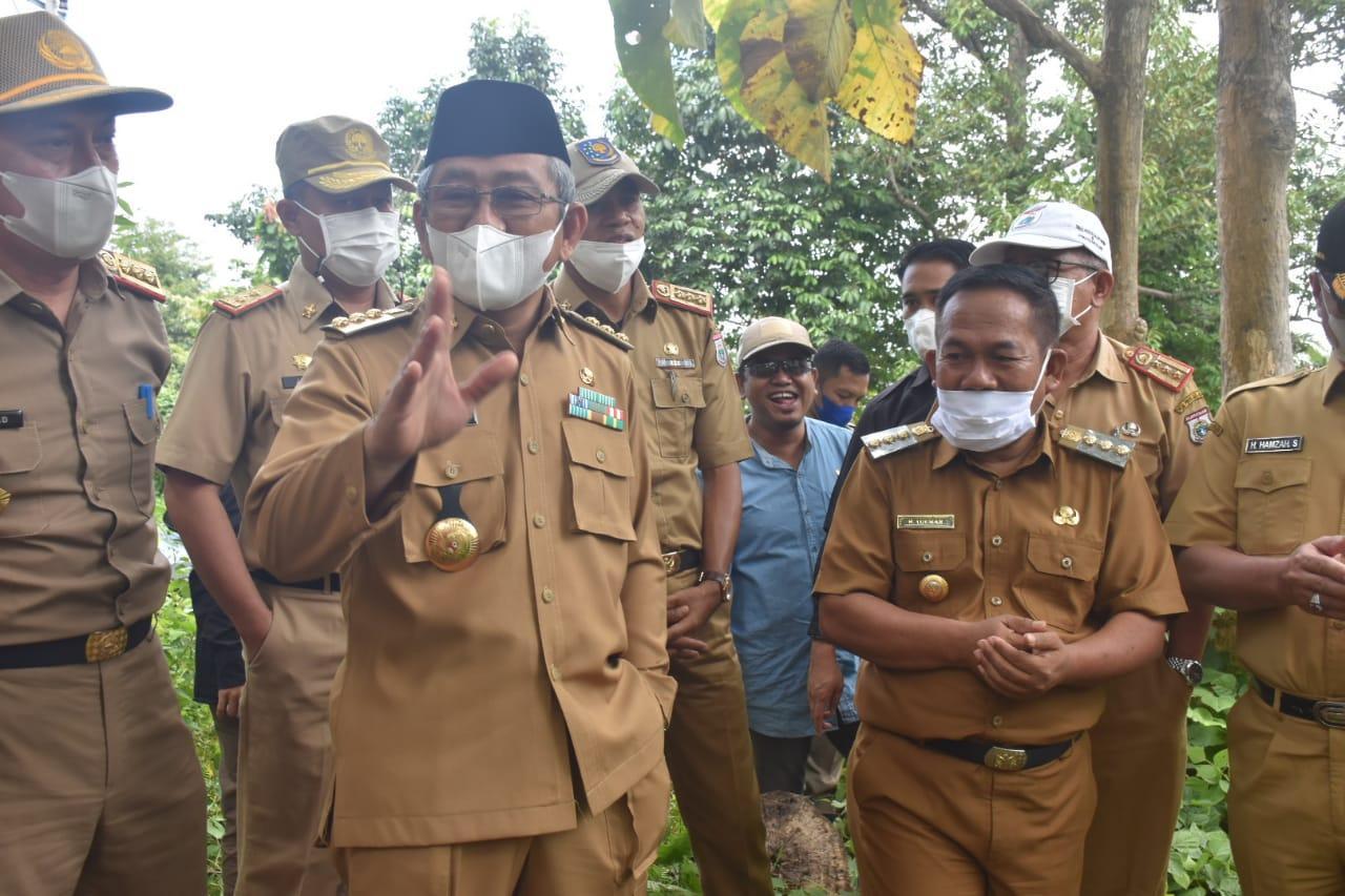 Gubernur Sulbar Pantau Kesiapan Pembangunan Huntap