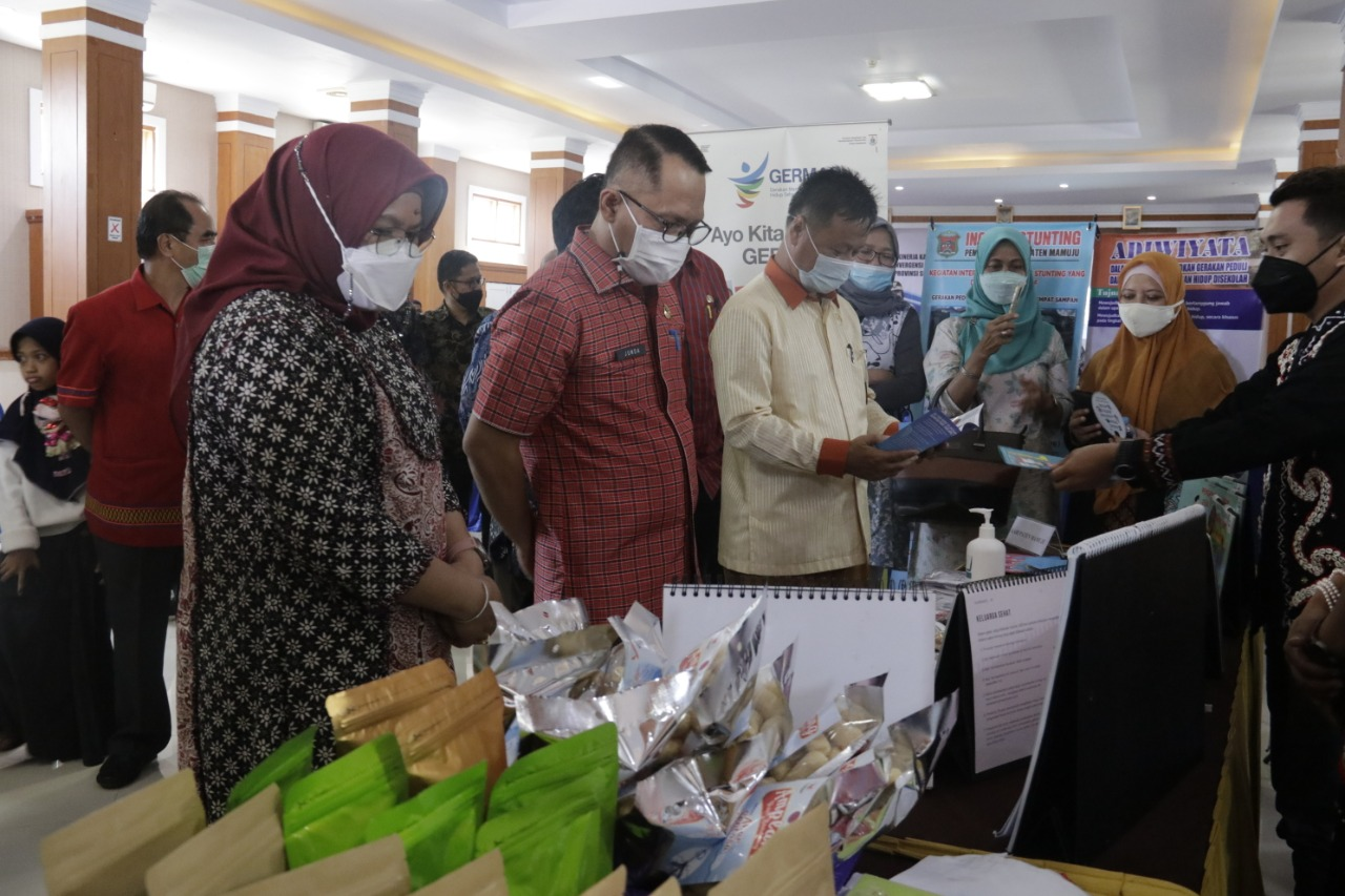 Ikuti Pameran Penilain Kinerja Stunting, Mamuju Usung UMKM Keren Bangkit