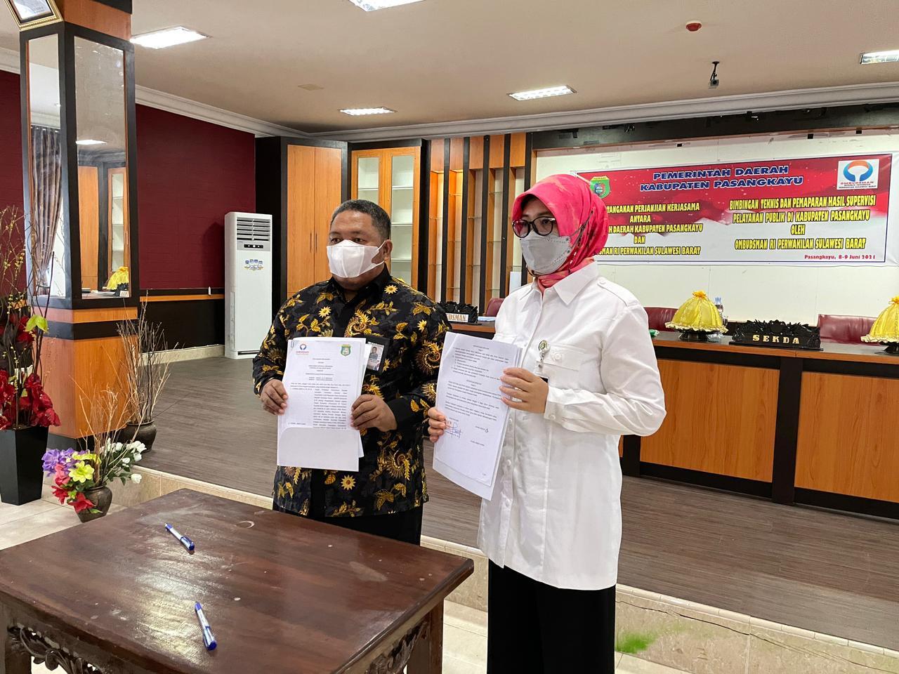 Pemda Pasangkayu Gelar Penandatanganan PKS dengan Ombudsman Sulbar