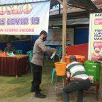 Kapolsek Budong-Budong Pantau Pos Satgas Covid-19