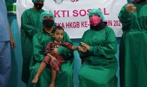 Sambut Hari Bhayangkara Ke-75, Kapolda Sulbar dan Ketua Bhayangkari saksikan Operasi Bibir Sumbing