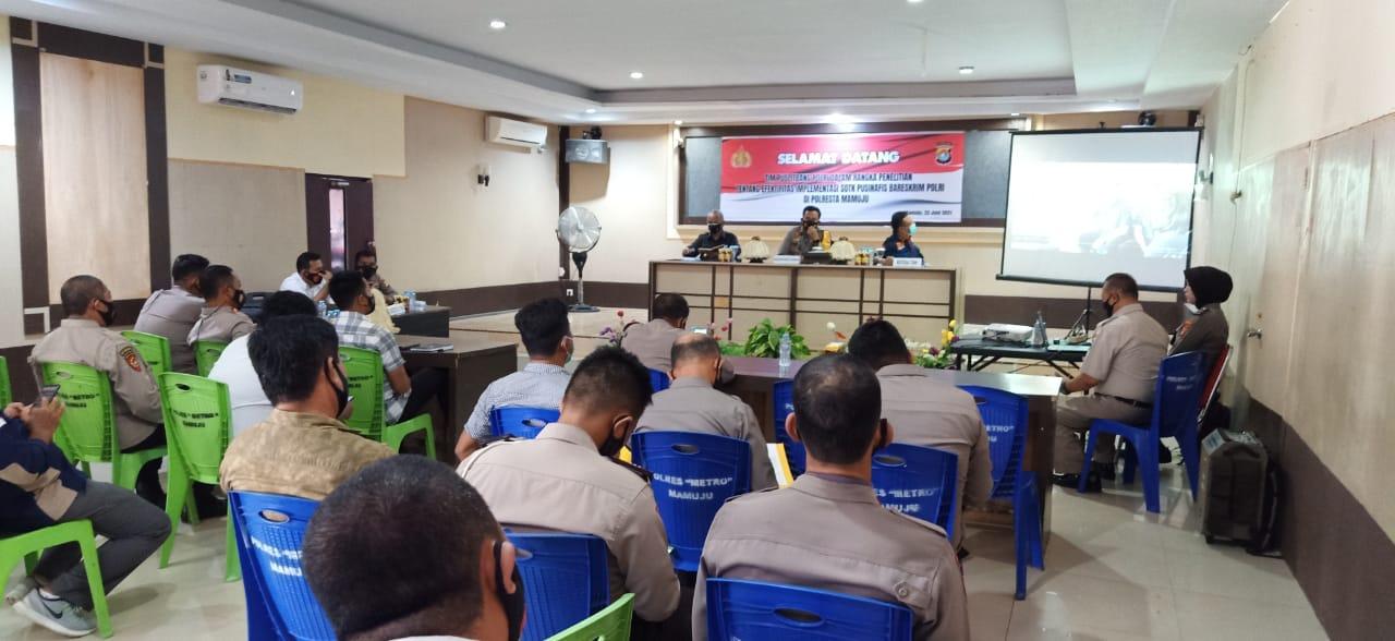 Tim Puslitbang Polri Lakukan Penelitian Efektivitas Implementasi SOTK Inavis Di Polresta Mamuju