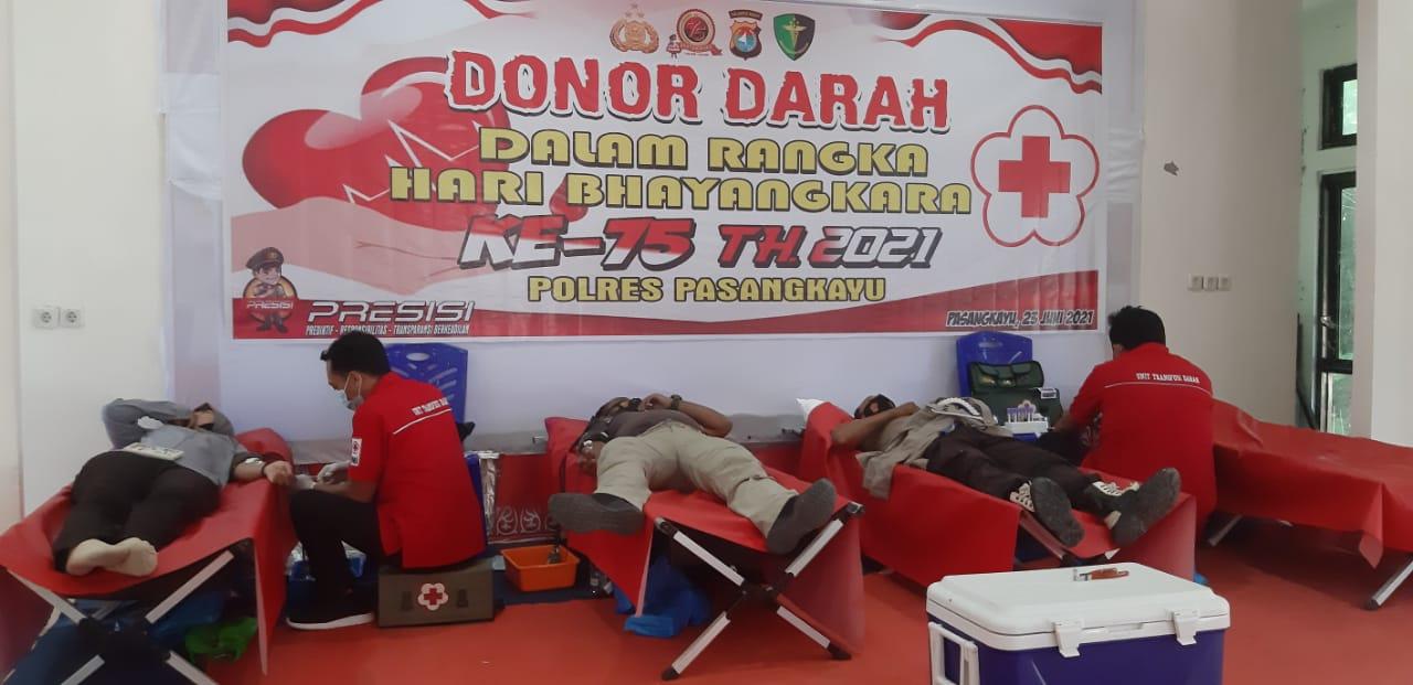 Polres Pasangkayu Gelar Donor Darah