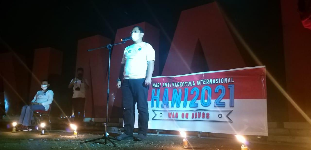 Peringati HANI 2021, BNNP Sulbar Gelar Malam Renungan