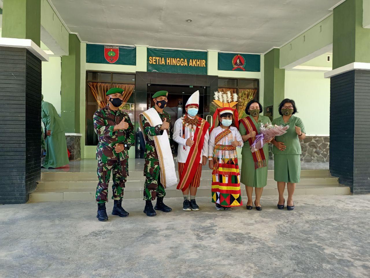Kasrem 142 Tatag Bersilaturahmi dengan Dandim 1428 Mamasa