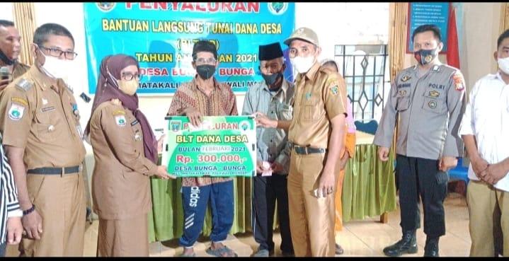 Bhabinkamtibmas Desa Bunga-Bunga Monitoring Dan Pengawasan Penyaluran Bantuan Langsung Tunai (BLT – DD) Dana Desa Tahap II.