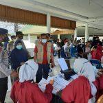 Sambut Hut Bhayangkara, Polres Majene Gandeng Seluruh Pihak Gencarkan Vaksinasi