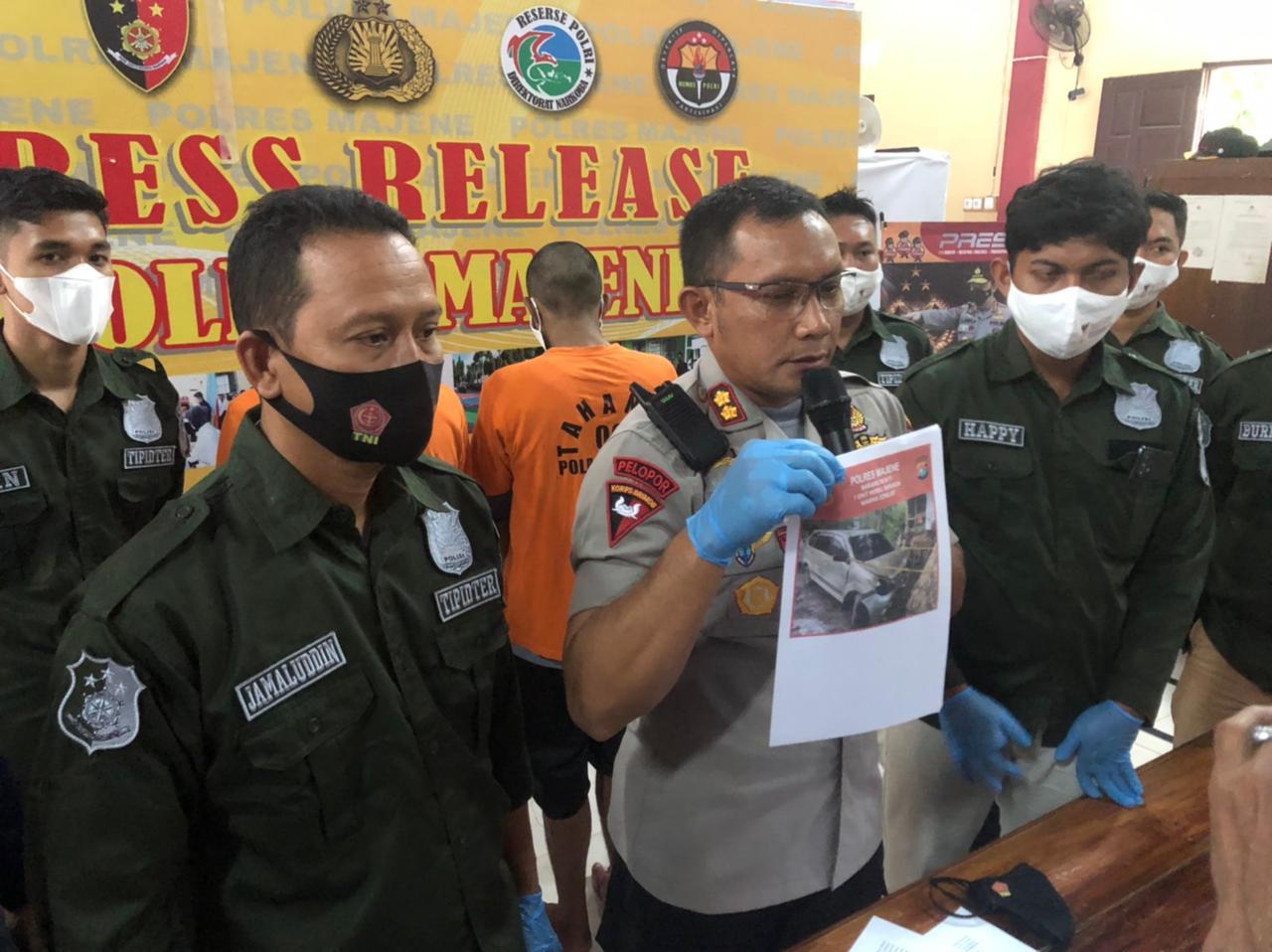 Polres Majene Gelar Press Release Pembunuhan dan Pencurian