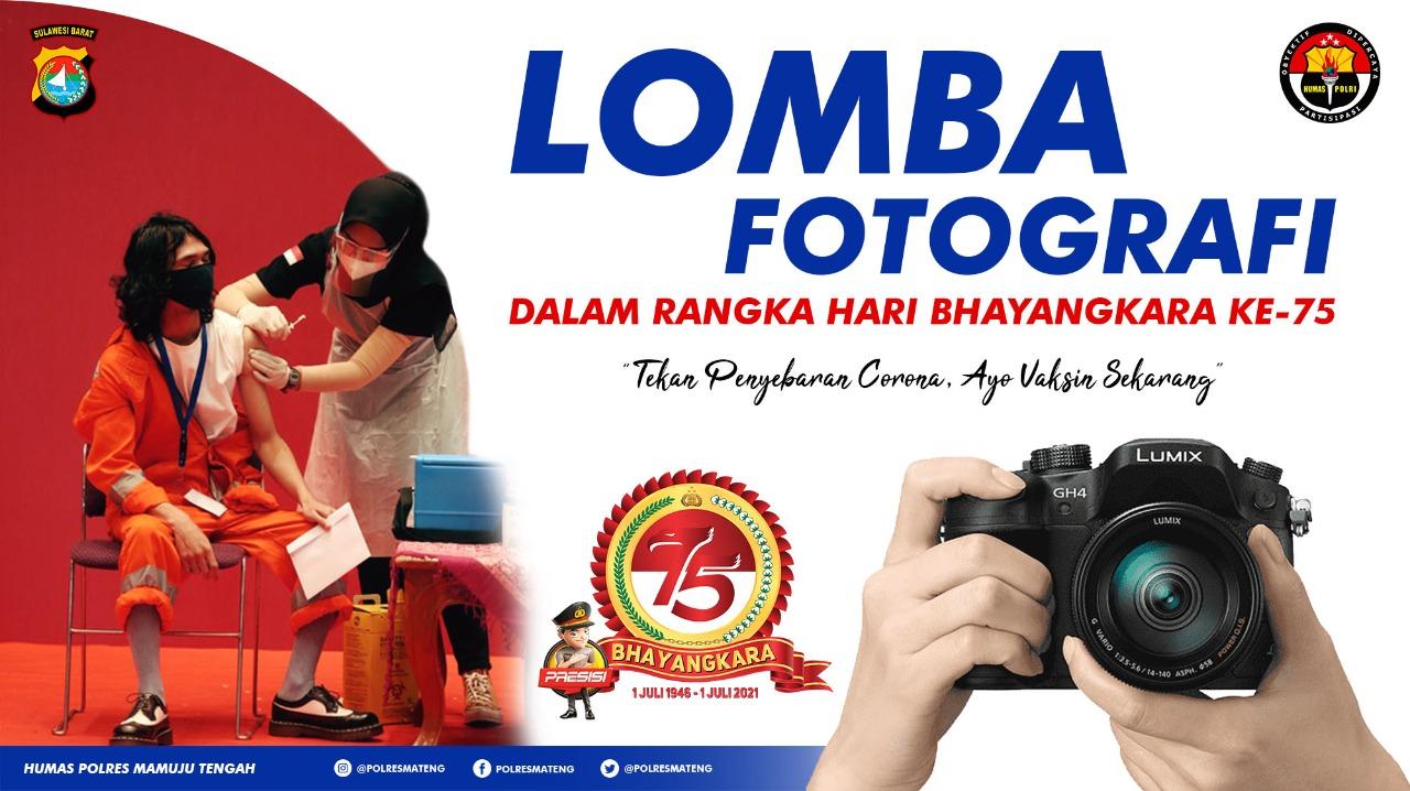 Hari Bhayangkara Ke-75, Polres Mamuju Tengah Gelar Lomba Fotografi